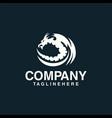 dragon logo concept template vector image