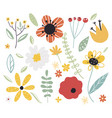 early spring forest and garden flowerset of vector image