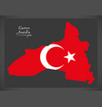 eastern anatolia turkey map vector image