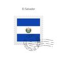 El Salvador Flag Postage Stamp vector image vector image