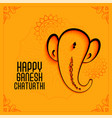 elegant lord ganesha festival background in vector image vector image