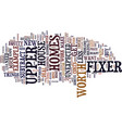 fixer upper homes are you ready text background vector image vector image