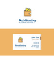 flat wallet logo and visiting card template vector image vector image