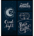 good night sleep tight sweet dreams banners vector image