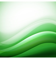 green waves background folding vector image vector image