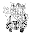Hand drawn doodle outline holiday car travel vector image vector image