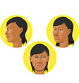 Head African American Woman vector image