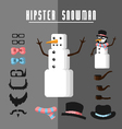 Hipster Snowman vector image vector image