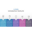 infographic template with 5 steps vector image vector image