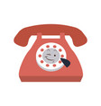 kawaii telephone call communication cartoon vector image