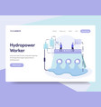 landing page template of hydropower energy vector image