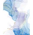 marble blue watercolor pattern deep sea color vector image