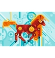 Mechanic Horse Abstract Concept vector image vector image