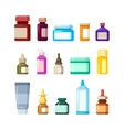 Medicine bottles for drugs pills and vitamins vector image vector image