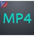Mpeg4 video format icon symbol 3D style Trendy vector image