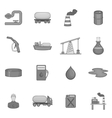 Oil industry icons set black monochrome style vector image vector image