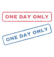 one day only textile stamps vector image vector image