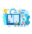 online learning lessons webinar and online vector image vector image