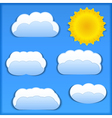 Paper Sun and Clouds vector image vector image