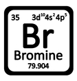 Periodic table element bromine icon vector image vector image