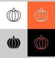 pumpkin thin linear simple icon adjustable line vector image vector image