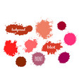 red paint splash set of brush strokes vector image vector image