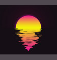 retro vintage styled bright sunset vector image vector image