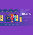 rich man with beautiful woman near casino entrance vector image vector image