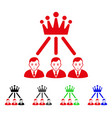sad hierarchy men icon vector image vector image