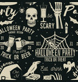 set halloween celebration seamless pattern with vector image vector image