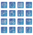 set of web icons of the concept of social problems vector image