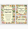 set of wedding invitation greeting card save vector image vector image