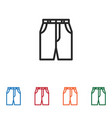 shorts icon vector image vector image
