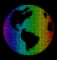 spectral colored dot earth icon vector image vector image