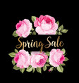 spring sale card vector image vector image