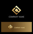 square gold technology logo vector image vector image