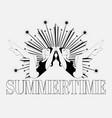 summertime hand drawn girls vector image