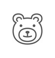 teddy bear childrens toy line icon vector image vector image