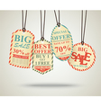 Vintage Sale Tags Design retro vector image vector image