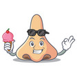 with ice cream nose character cartoon style vector image vector image