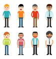 people characters men vector image