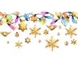 Golden Christmas Decoration EPS 10 vector image