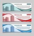 website horizontal business banners vector image