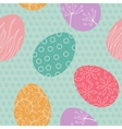 Easter egg seamless pattern vector image
