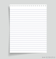 Empty white papers vector image