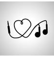 I love music headphones vector image