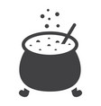 witch cauldron glyph icon halloween and scary vector image
