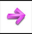 3d arrows colors vector image vector image