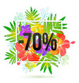 70 percents discount banner template vector image