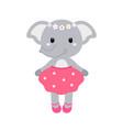 a cute funny elephant girl vector image